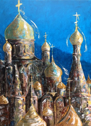 """Painting titled """"Cathédrales orthodo…"""" by Amey, Original Art, Acrylic Mounted on Stretcher frame"""