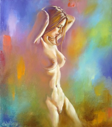 """Painting titled """"Color mirage"""" by Kostiantyn Shyptia, Original Art, Oil Mounted on Stretcher frame"""