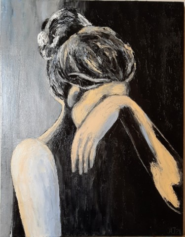 """Painting titled """"crying"""" by Ana Isac, Original Art, Oil"""