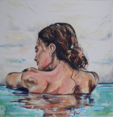 """Painting titled """"Exhala"""" by Analía Alfano, Original Art, Oil"""