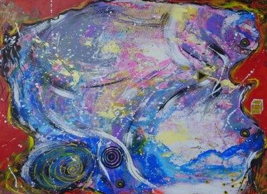 Esotericism Painting, acrylic, expressionism, artwork by Ana Maria Guta