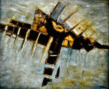 """Painting titled """"ABSTRACT-C"""" by Anandswaroop Manchiraju, Original Art, Oil"""