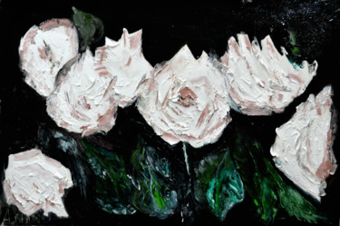 Flower Painting, oil, abstract, artwork by Anandswaroop Manchiraju