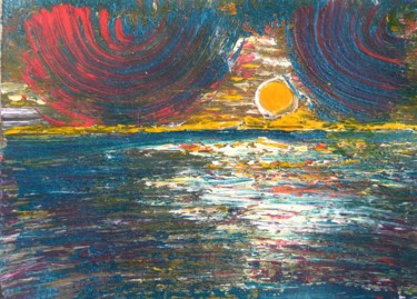 """Painting titled """"Sacred planet"""" by Asia Gurova, Original Art, Acrylic"""