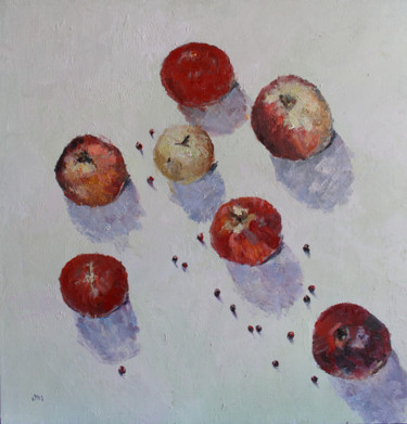 """Painting titled """"Apples"""" by Volha Milashevich, Original Art, Oil"""