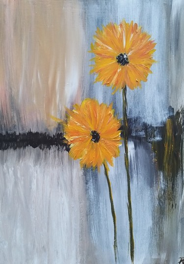 """Painting titled """"Sunflowers"""" by Andrea Brown, Original Art, Acrylic"""
