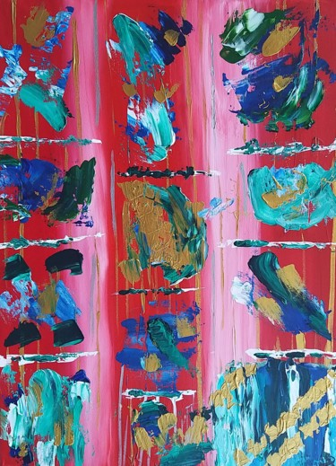 """Painting titled """"2021 Abstract"""" by Andrea Brown, Original Art, Acrylic"""