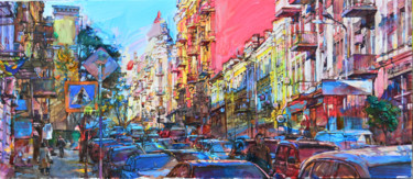 """Painting titled """"Autumn in old city"""" by Андрей Куцаченко, Original Art, Oil Mounted on Stretcher frame"""