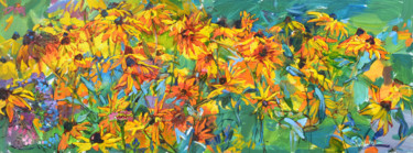 Flower Painting, oil, impressionism, artwork by Андрей Куцаченко