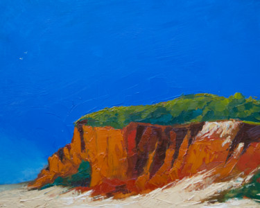 """Painting titled """"Cliffs by the Atlan…"""" by Andrei Voica, Original Art, Oil"""