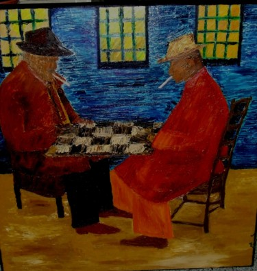 """Painting titled """"Gangsters"""" by Da Luz, Original Art, Oil"""