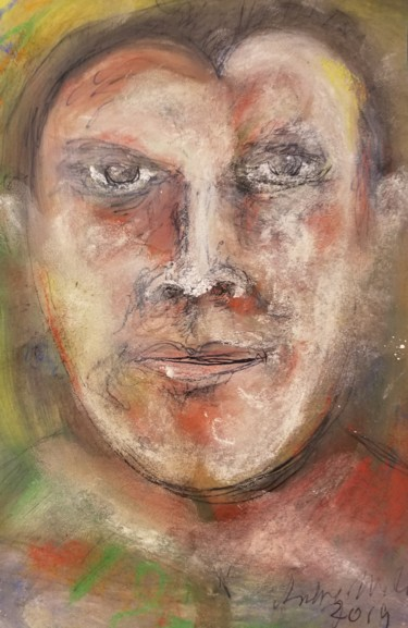 Drawing, pastel, expressionism, artwork by Andrew Walaszek