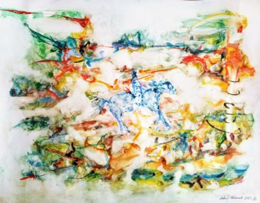 Painting, watercolor, expressionism, artwork by Andrew Walaszek