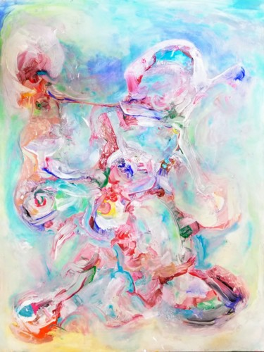 Painting, tempera, abstract, artwork by Andrew Walaszek