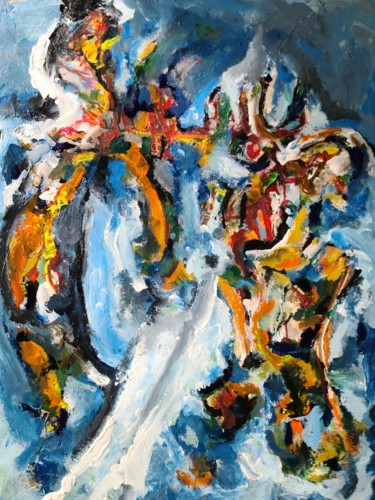 Religion Painting, acrylic, abstract, artwork by Andrew Walaszek
