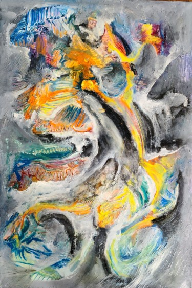 Abstract Painting, oil, abstract, artwork by Andrew Walaszek