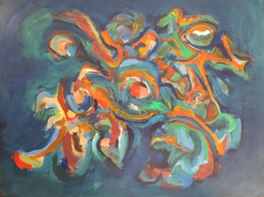 Dog Painting, acrylic, abstract, artwork by Andrew Walaszek