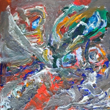 War Painting, acrylic, abstract, artwork by Andrew Walaszek