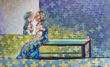 """Painting titled """"In Midnight"""" by Andrey Zhokhov, Original Art, Oil"""