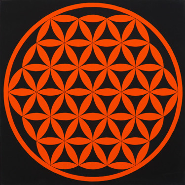 """Painting titled """"Flower of life oran…"""" by Andrii Katrych, Original Art, Acrylic"""