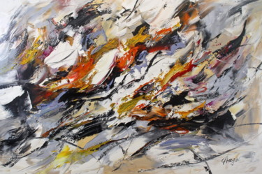 Painting, oil, abstract, artwork by Angel Chau