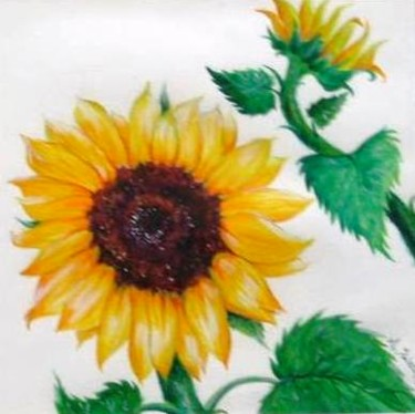 """Painting titled """"Sunflower I"""" by Angelika Solecki, Original Art, Other"""