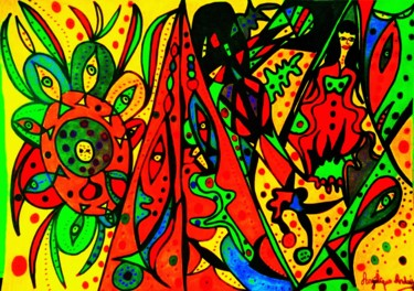Drawing, marker, abstract, artwork by Angélique Andujar