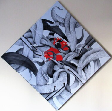 """Painting titled """"Convergenze"""" by Angelo D'Amato, Original Art, Acrylic"""