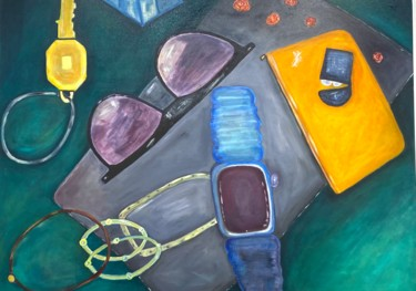 """Painting titled """"Loose Objects"""" by Angelo Dipietrantonio, Original Art, Oil"""