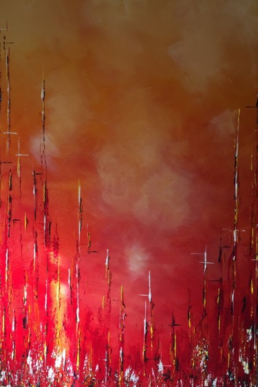 """Painting titled """"Dusk Scape"""" by Angie Chapman, Original Art, Acrylic"""