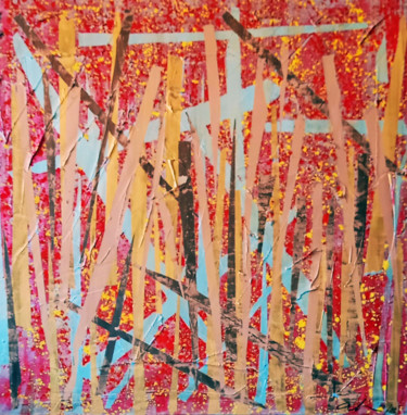 """Painting titled """"Abstract I"""" by Anita Sech, Original Art, Acrylic Mounted on Stretcher frame"""