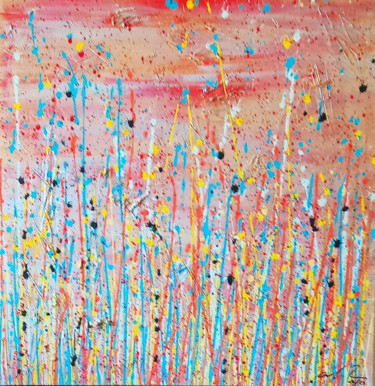 """Painting titled """"Abstract III"""" by Anita Sech, Original Art, Acrylic Mounted on Stretcher frame"""