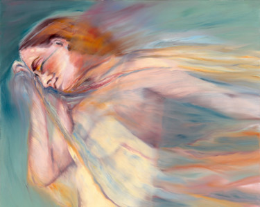"""Painting titled """"Dreaming Woman"""" by Anja Struck, Original Art, Oil"""