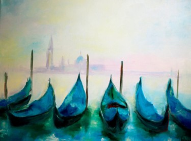 """Painting titled """"Venice painting Gon…"""" by Lubchik, Original Art, Oil"""
