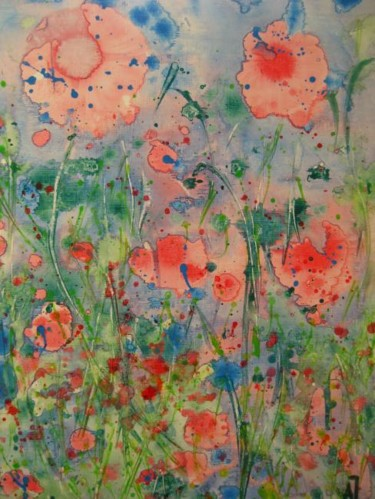 """Painting titled """"Lying on the Meadow"""" by Anna Jagla, Original Art, Oil"""