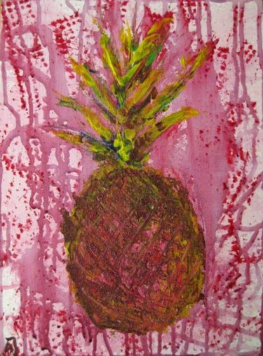 """Painting titled """"Pineapple"""" by Anna Jagla, Original Art, Oil"""