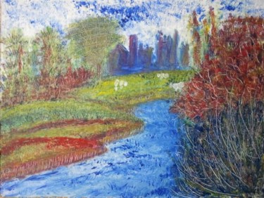 """Painting titled """"Bective Abbey"""" by Anna Jagla, Original Art, Oil"""