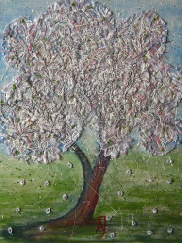 """Painting titled """"""""Cherry Tree"""""""" by Anna Jagla, Original Art, Other"""