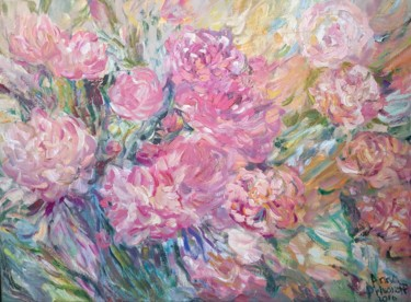"""Painting titled """"Pion"""" by Anna Privaloff, Original Art, Oil"""