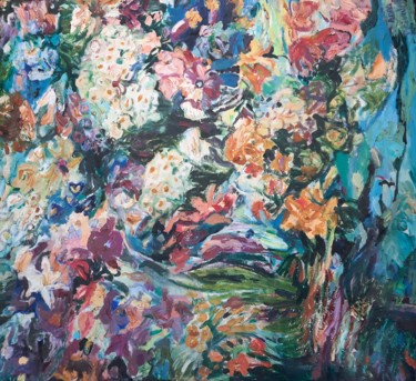 """Painting titled """"A magical colored c…"""" by Anna Privaloff, Original Art, Oil"""
