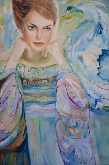 """Painting titled """"Swan"""" by Anna Privaloff, Original Art, Oil"""