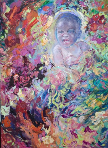 """Painting titled """"The baby"""" by Anna Privaloff, Original Art, Oil"""