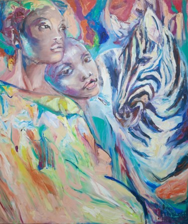 """Painting titled """"Friends"""" by Anna Privaloff, Original Art, Oil"""