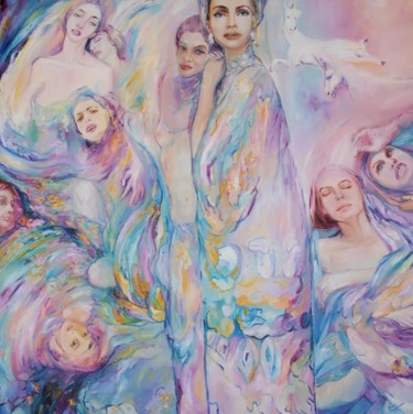 """Painting titled """"The Virgin"""" by Anna Privaloff, Original Art, Oil"""