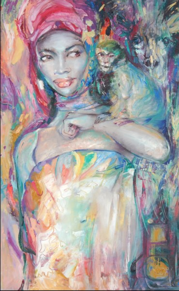 """Painting titled """"Moonlight"""" by Anna Privaloff, Original Art, Oil"""