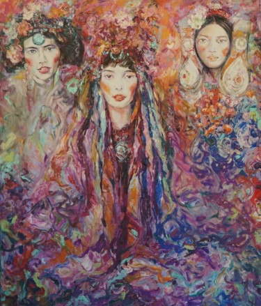 """Painting titled """"Tibet fantasy"""" by Anna Privaloff, Original Art, Oil"""