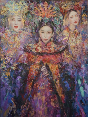 """Painting titled """"Chinese fantasy"""" by Anna Privaloff, Original Art, Oil"""