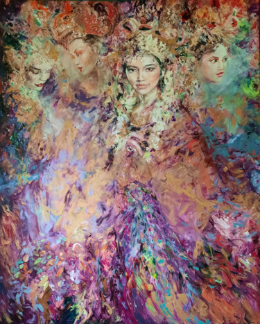 """Painting titled """"Indonesian fantasy"""" by Anna Privaloff, Original Art, Oil"""