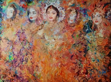 """Painting titled """"Indian fairytale"""" by Anna Privaloff, Original Art, Oil"""