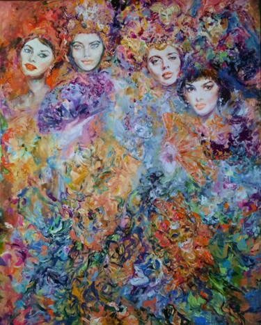 """Painting titled """"Venice carnival"""" by Anna Privaloff, Original Art, Oil"""
